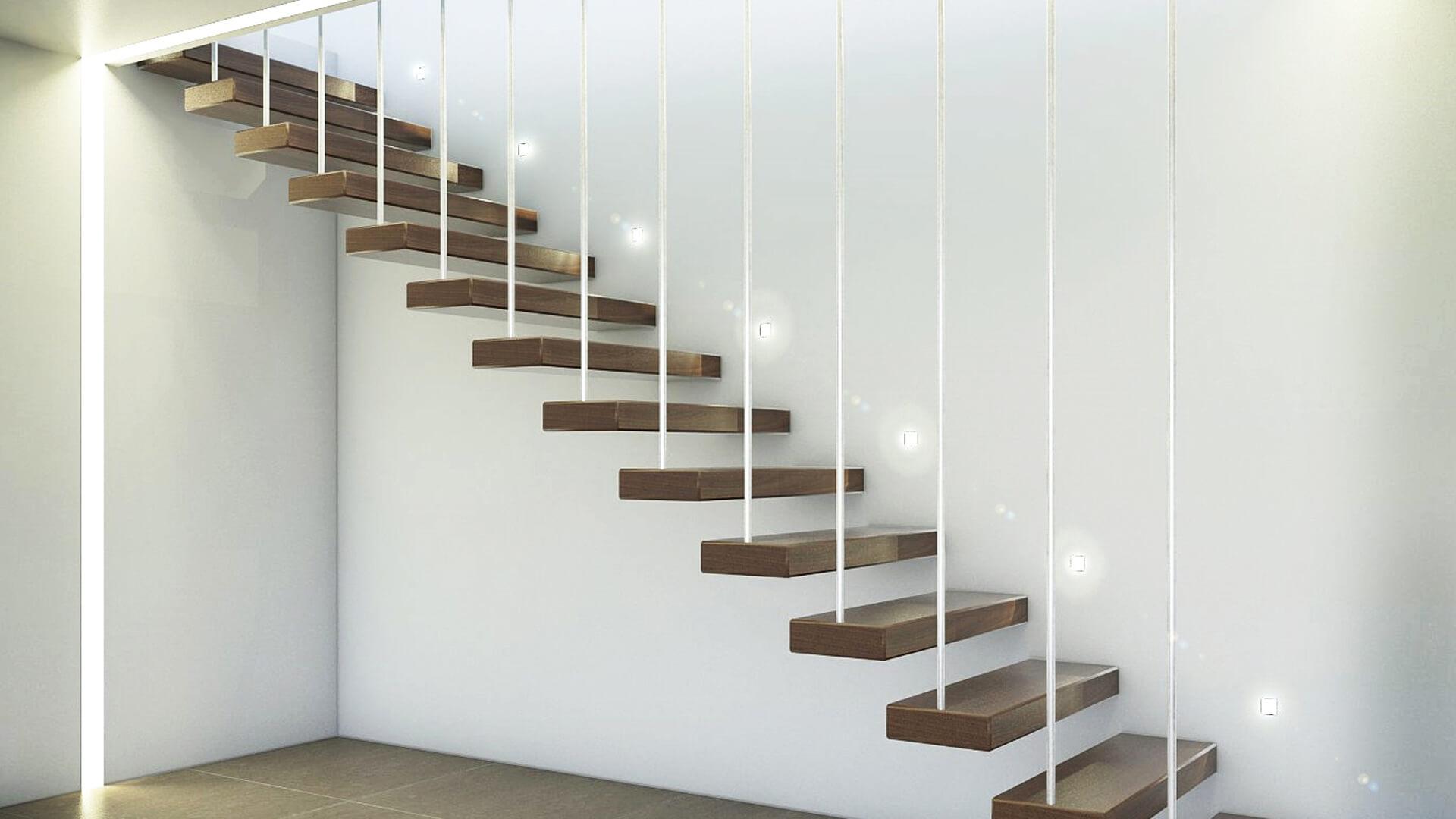 Progettazione e Render scala in stile moderno. Località Milano