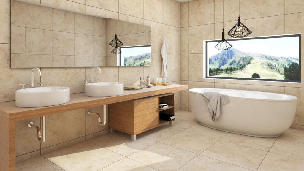 Progettazione e render bagno Luogo: Trento (TN)