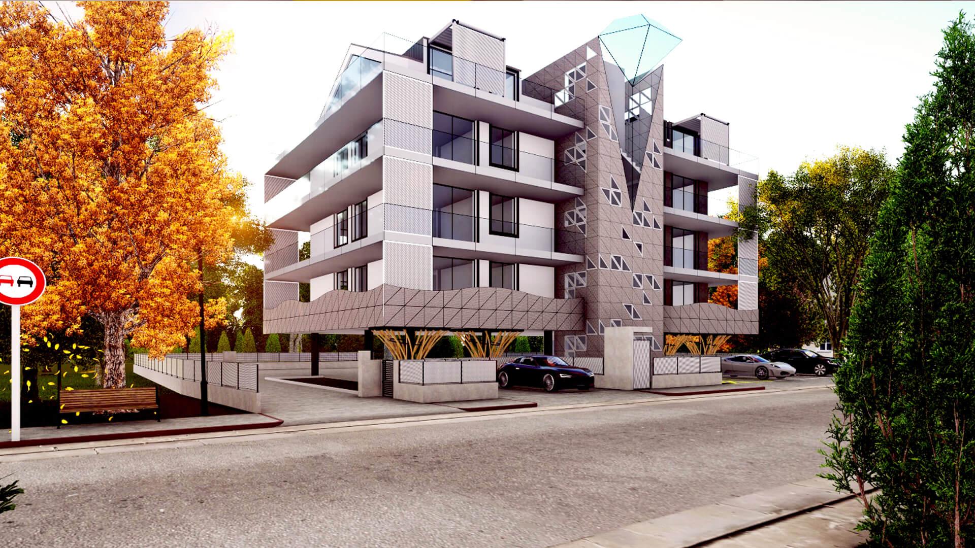 Render edificio residenziale. Località: San Mauro Torinese (TO)