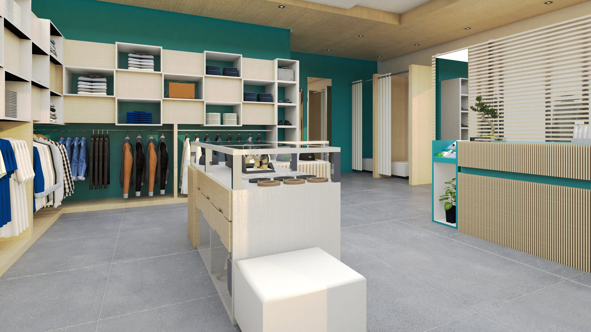 Allestimento negozio per la NAD. Località: Verona