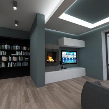 Appartamento in Villa Milano: Render 360°