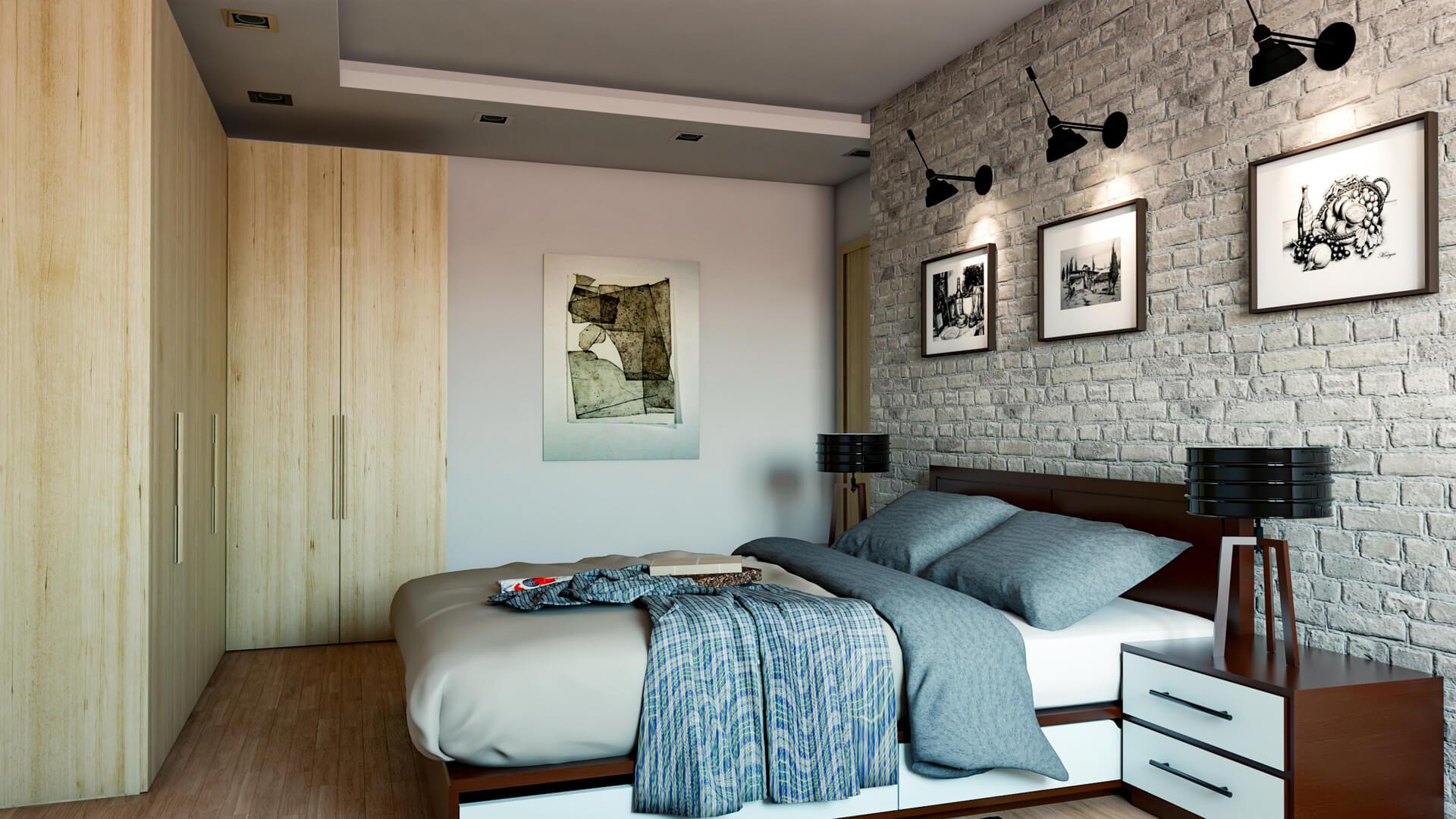 Progettazione e Render appartamento. Località: Modena