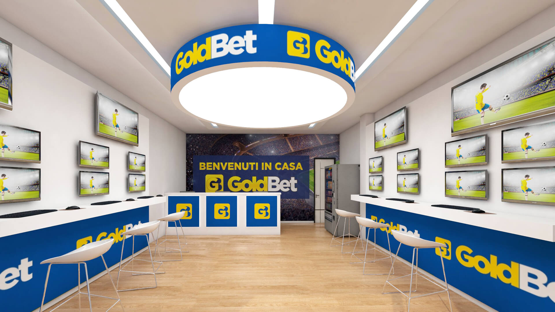 Render varie sale scommesse GoldBet