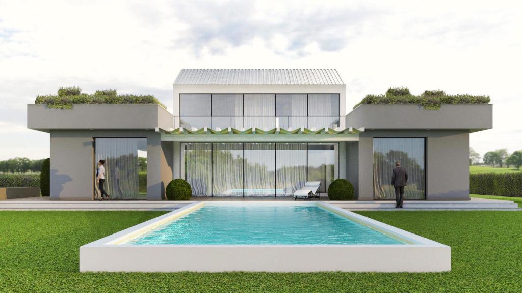 Render villa monofamiliare. Luogo San Mauro Torinese (TO)